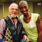 Myself pictured with Stephen Levine holding tensegrity model at the BIG Summit.