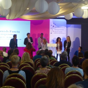 Award winners on stage at the British Fascia Symposium 2016