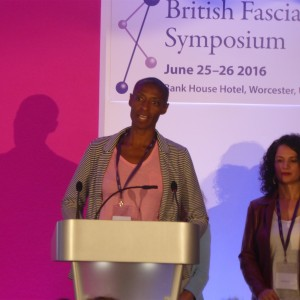 Receiving 2nd prize for research poster presentation at British Fascia Symposium 2016